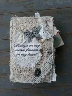 Fabric Lace Journal by suzannedustin on Etsy, $75.00