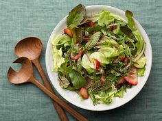 Green Salad with Strawberry Balsamic Vinaigrette Recipe : Rachael Ray : Food Network - FoodNetwork.com