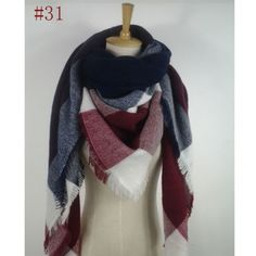 Maroon White Blanket Scarf Brand new scarfs. Buy one for $25, two for $45 , three for $65 and four for $85. Please do not buy from this listing. Please comment and I will make you a new listing. Thanks. Accessories Scarves & Wraps