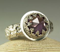 Alexandrite Ring Sterling Silver Natural by TazziesCustomJewelry