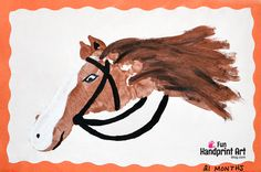 Make a footprint horse with your baby's foot! Preschoolers and up will love making their own horse craft!