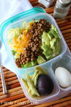 Easy Lunchbox Ideas for the family - Lunchbox scraps make a yummy salad for mommy! - FamilyFreshMeals.com