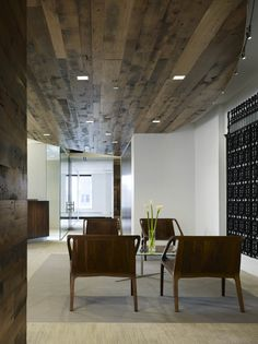 reclaimed wood ceiling for conference room option 2