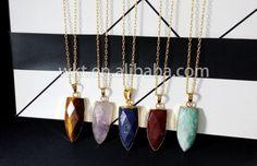 WT-N381 New wholesale fashion gemstone necklace arrowhead