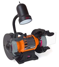 Remember when you spent all that money replacing dull rusty tools. From debarring ragged edges to cleaning objects to sharpening blades, the WEN 6 in. Bench Grinder is the ideal companion for any work Knife Grinder, Bench Grinder, Stump Grinder, Led Work Light, Work Lights, Industrial Bench, Hobby Tools, How To Remove Rust, Flexible Working