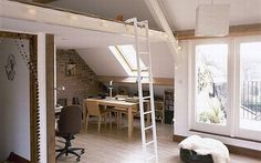 mezzanine design for attic loft space