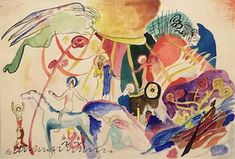 Wassily Kandinsky. Composition with Saints, 1911
