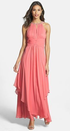 Coral dress for a mother of the bride - perfect MOB dress for beach weddings, destination weddings or outdoor summer weddings