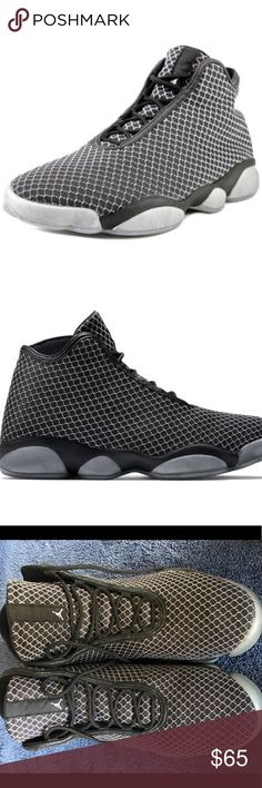 Nike Jordan Horizon Black/Grey Basketball Shoes 13 Nike Jordan Horizon 823581-010 Black Grey Basketball Shoes Size 13 men's 100% Authentic and in gently worn condition. Well kept. Feel free to email me with any questions you may have. About the Product: Jordan Horizon - Men's The Jordan Horizon delivers sport-inspired comfort with an upscale aesthetic. It gives you a dressed-up, post-game option without compromising the ride. One-piece textile upper is flexible and lightweight. Leather…
