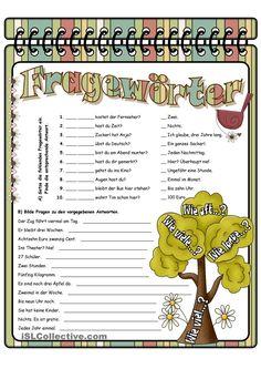 Fragewörter_5 Autism Education, German Grammar, German Language Learning, Grammar And Vocabulary, Learn German, Educational Activities, Teacher, Classroom, School