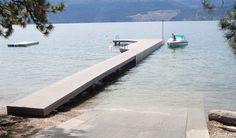 wood plastic composite hollow floating dock decking/flooring