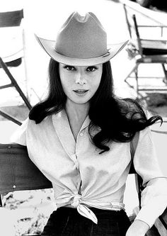 Audrey Hepburn in cowboy hat, Green Mansions, 1958 by Bob Willoughby, via Flickr