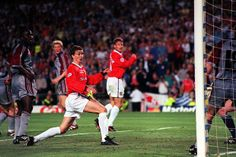 Magical moment: Ole Gunnar Solskjaer prods home the winning goal for Manchester United in the 1999 Champions League final. Sir Alex Ferguson, Cardiff City, Soccer News, Manchester United Football, Professional Football, Sport Football, Man United, Champions League, Premier League