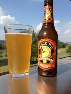 Shock Top Belgian White | Shock Top Brewing Co., St. Louis MO. I like mine with a slice of orange!