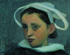 Wladyslaw Slewinski - Head of a Breton Girl from Quimperle -1903