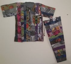 AFRICAN Patchwork (Baye Fall) Pant Set - AMAD by soumahstore on Etsy