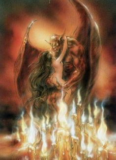 Dark fantasy art by Luis Royo