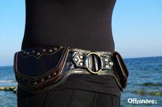Leather Hip Belt BaG   BASTIDE BLANCHE   BLACK by offrandes, $120.00