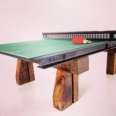 #pingpong #custom #custommade #railroad #industrial #vintage #artifacts #steel #timber #luxury #christmasgift