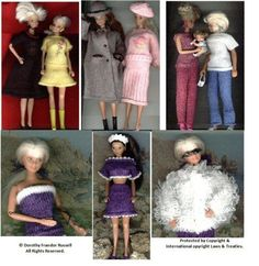 """Day Wear 2"" outfits11-12ins dolls Machineknit"