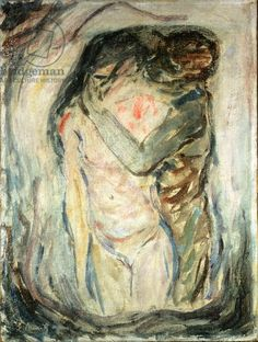 Munch - The Kiss, c.1910 (oil on canvas)