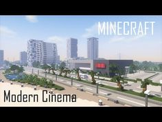 (7) Minecraft Modern Cinema (full interior) + Download - YouTube Minecraft Modern City, Minecraft City Buildings, Minecraft Farm, Minecraft Mansion, Minecraft Houses Blueprints, Minecraft Plans, Amazing Minecraft, Minecraft Creations, Minecraft Projects