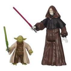 Star Wars Mission Series Senate Duel Darth Sidious and Yoda Action Figures ** You can get additional details at the image link.Note:It is affiliate link to Amazon.