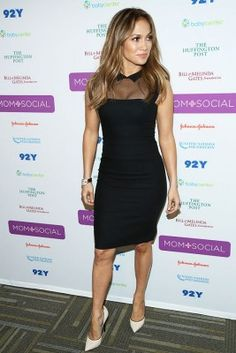 Jennifer Lopez in a little black dress