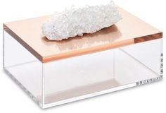Mapleton Drive Large Acrylic Box With Quartz, Rose Gold ($145)