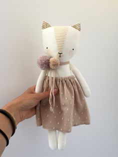 luckyjuju kitten doll girl от luckyjuju на Etsy