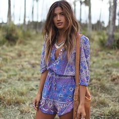 Divine Hawaiian moments  @rocky_barnes in our Boho Blossom Playsuit for @turquoiselane_shop