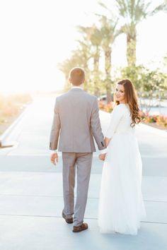 LDS Wedding // Gilbert Temple // Modest Wedding Gown // Mormon Bride
