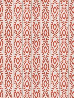 Dana Gibson by Stroheim Fabrics Madagascar-Persimmon $63.99 per yard #interiors #decor #orange #stripe #ethnic #designer #collections #geometric
