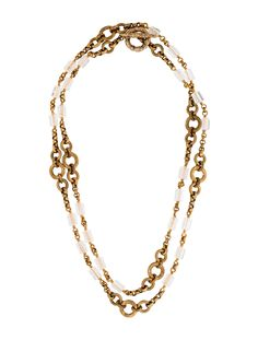 $256.00   Stephen Dweck Rocky Crystal Quartz Station Necklace - Necklaces - STD21866 | The RealReal