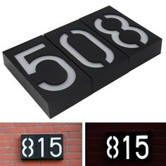Solar Powered Wall Mount 6 LED Bulb Lamp Illumination Doorplate Lamp House Number Porch Lights With Solar Battery Outdoor Solar Lamps, Best Outdoor Lighting, Solar Led Lights, Solar Battery, White Led Lights, Porch Lighting, House Lighting, Solar Powered Lamp, Hotel Door
