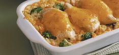 Creamy Chicken and Rice Bake - the best recipe for chicken and rice! made it lots in college yummmmy