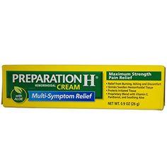 Preparation H Hemorrhoidal Cream Maximum Strength, OZ, Multicolor Home Remedies For Hemorrhoids, Preparation H, Hemorrhoid Relief, Geranium Essential Oil, I'm Pregnant, Improve Blood Circulation, Active Ingredient, Pain Relief