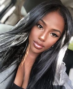 Shared by ♚. Find images and videos about beautiful, makeup and melanin on We Heart It - the app to get lost in what you love. Pretty Black Girls, Beautiful Black Girl, Dark Skin Beauty, Hair Beauty, Maquillage Black, Beautiful Dark Skinned Women, Black Girl Makeup, Black Girl Aesthetic, Brown Skin Girls