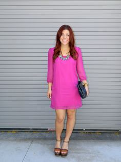 {Easter - Simply Audree Kate} Charlotte Russe dress, H&M necklace, Target wedges