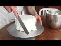 Best video tutorials on how to level, crumb coat and frost/ice a cake. See part 1&2 as well. Really helped out this weekend. By zoebakes