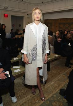 WHO: Gigi Hadid WHAT: Tory Burch WHERE: At the Tory Burch show WHEN: February 17, 2015