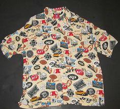 NY Jets NFL Football Licensed Tailgate Party XL Men s Shirt Hawaiian AFC  EAST Fan Gear 97cd5f798