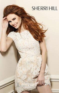 5e4c3ae4161 Lace Mini Dress by Sherri Hill 2941