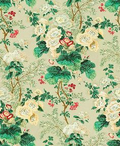 Althea Print Celadon by Lee Jofa Fabric see sample Cotton Thailand Light Horizontal: inches and Vertical: inches 51 inches - Fabric Carolina - Drapery Fabric, Fabric Decor, Fabric Design, Green Fabric, Floral Fabric, Fabric Patterns, Print Patterns, Lee Jofa, Fabulous Fabrics