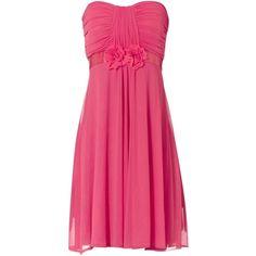 Jane Norman Short Prom Dress (100 DKK) ❤ liked on Polyvore featuring dresses, vestidos, pink, robes, chiffon cocktail dress, cocktail prom dress, summer cocktail dresses, chiffon prom dresses and pink summer dress