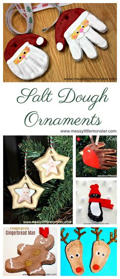 Christmas Salt Dough Ornaments for Kids. The best Christmas crafts for Kids! Make the cutest salt dough ornaments using our easy salt dough ornament recipe. These are such fun Christmas crafts for kids. Salt Dough Christmas Ornaments, Baby Ornaments, Homemade Ornaments, Homemade Christmas Gifts, Christmas Diy, Salt Dough Recipe For Ornaments, Best Salt Dough Recipe, Simple Christmas, Christmas Presents