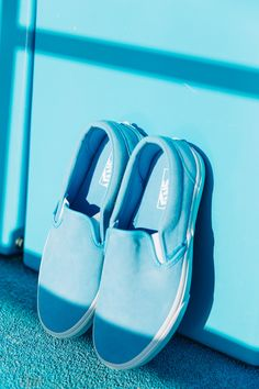 8457b79955 Brighten up your day with the Soft Suede Slip-On in Alaskan Blue True