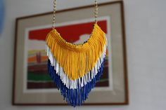 chevron fringe necklace tutorial from The Alison Show