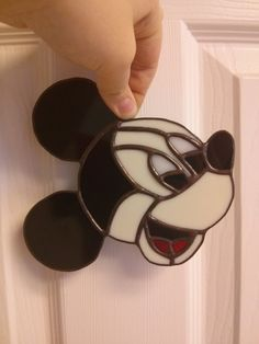 Hey, I found this really awesome Etsy listing at https://www.etsy.com/listing/255316276/mickey-mouse-stained-glass