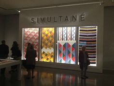 """""""Sonia Delaunay, les couleurs de l'abstraction"""" au Musée d'art moderne de la Ville de Paris, en octobre 2014."""